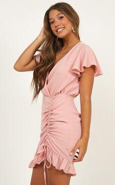 Newbury Street Dress In Blush