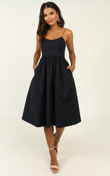 Wild Nights Dress in Navy