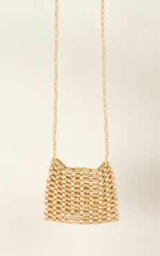 Not Coming Back Beaded Bag In Natural