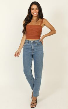 Summertime Love Knit Top In Rust