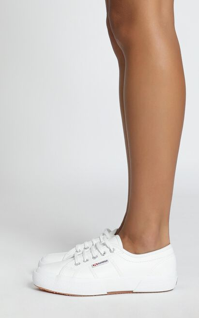 Superga - 2750 EFGLU Sneaker in white leather - 11, White, hi-res image number null