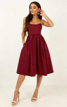 Wild Nights Dress in Wine