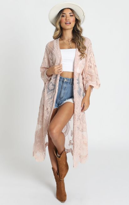 Heavy Hearted Kimono in blush - M/L, Blush, hi-res image number null
