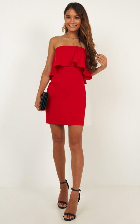 Summer Cocktails Dress In Red