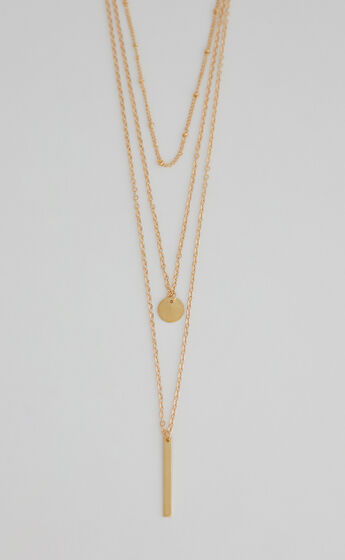 Where Are You Now necklace in Gold
