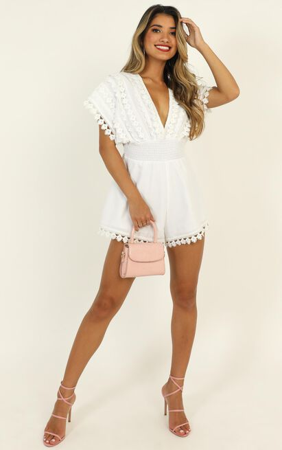 Think Big Playsuit in white linen look - 20 (XXXXL), White, hi-res image number null