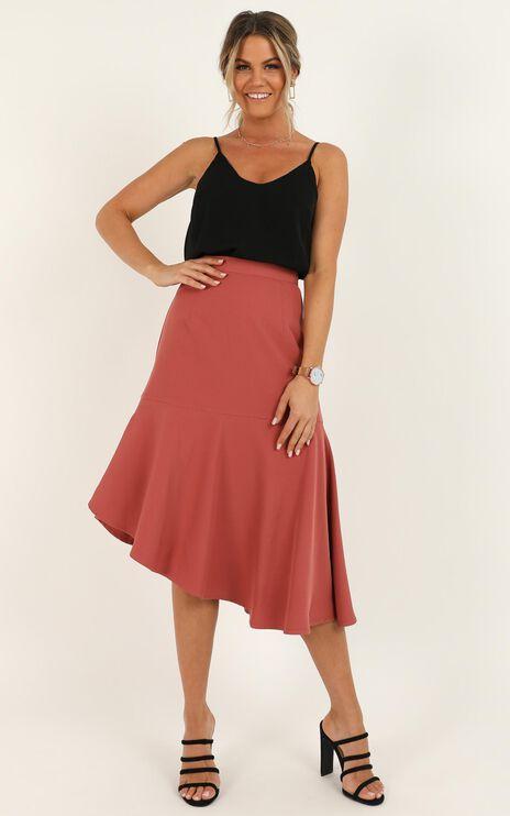 Mentor Goals Skirt In Dusty Rose
