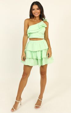 Rooftop Spritz Two Piece Set In Mint