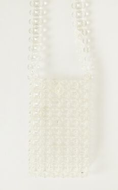 More Than Us Beaded Bag In Clear