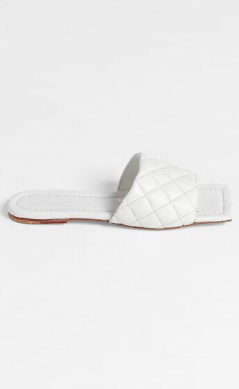 Tony Bianco - Geena Sandals in White Sheep Napa