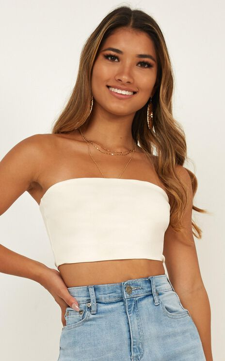 Animation Crop Top In Cream