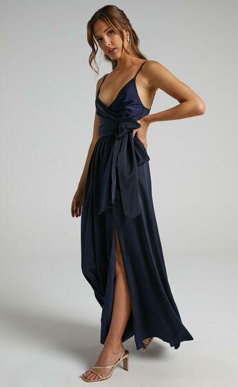 Revolve Around Me Dress in Navy