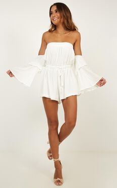 Keeping Me Playsuit In White