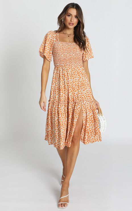 Big Escape Dress In Yellow Floral