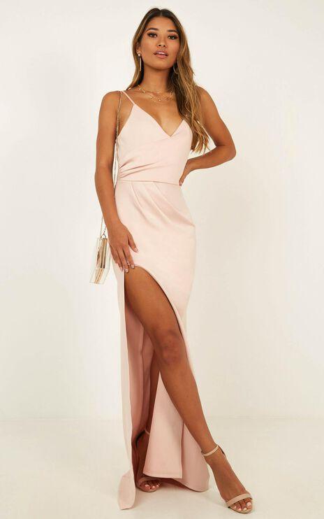 Linking Love Maxi Dress In Blush