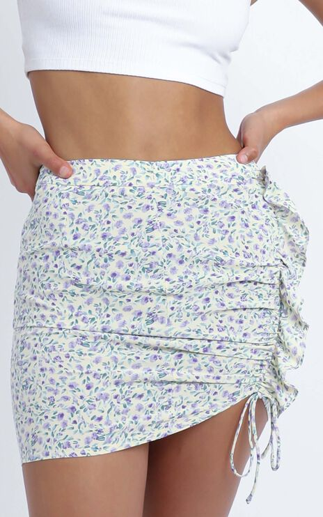 Kirkland Skirt in Beige Floral
