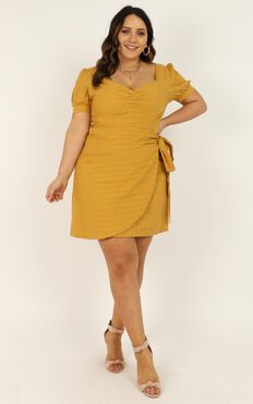 No More Excuses Dress In Mustard