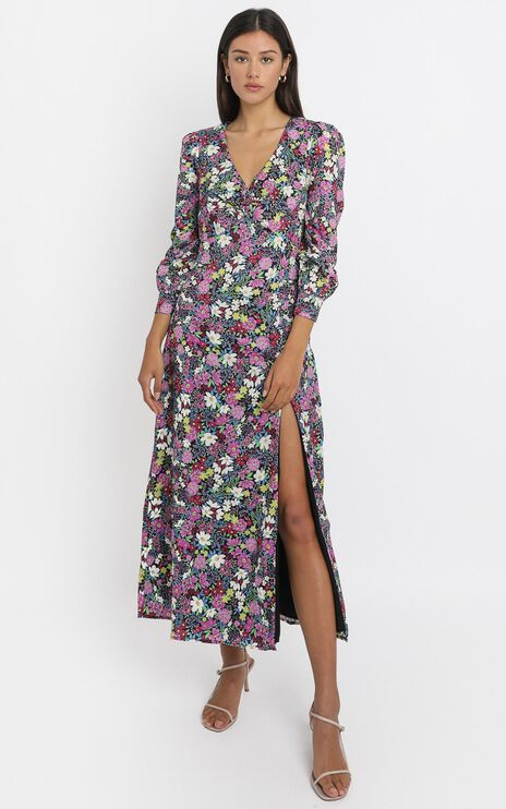 Darcy Midi Dress in Forest Floral