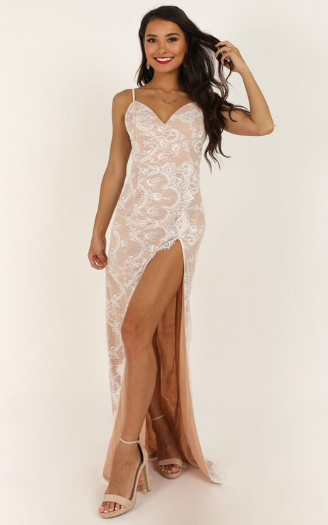Wrap Me Up In Lace Dress In White Lace