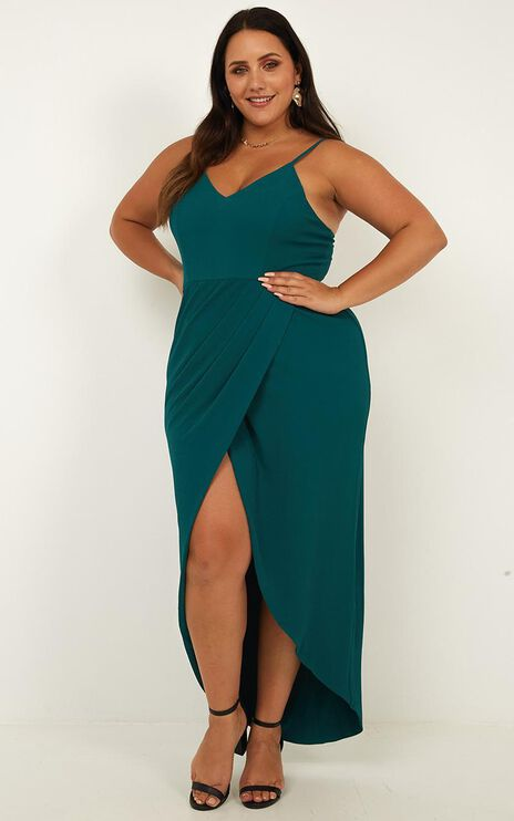 Lucky Day Maxi Dress in Teal
