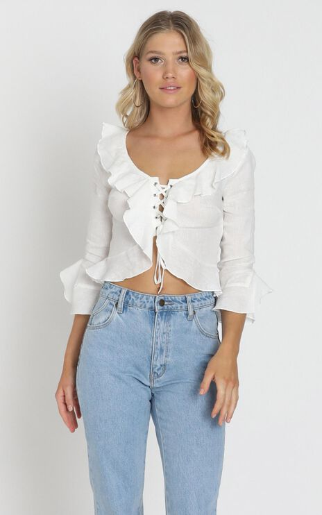 Gladys Top In White