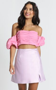 Zariah Crop Top In Pink
