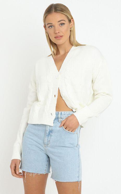 Poppy Knit Cardigan Set in White