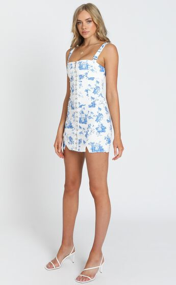 Vacation Forever Dress in Blue Floral