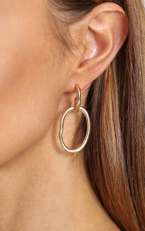 Maggie Earrings in Gold