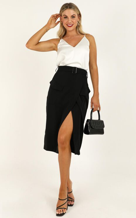 Decision Maker Skirt In  Black