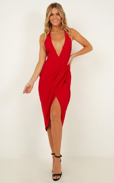 Camera Ready Dress In Red