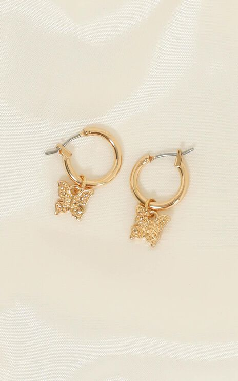 Fly Away Earrings in Gold
