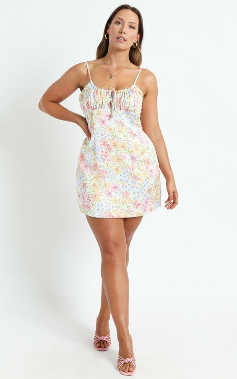 Ive Got You Now Dress in Multi Floral