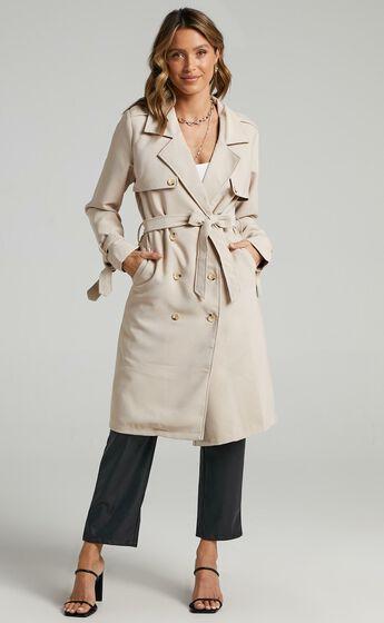 Coolest Girl Trench Coat in Beige