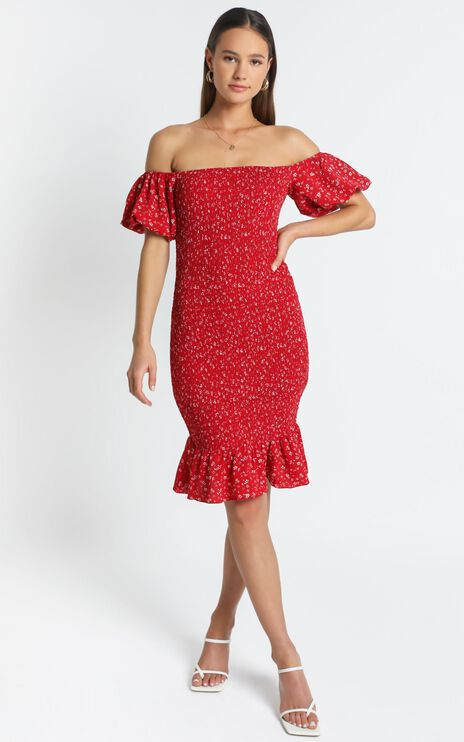 Margaux Dress in Red