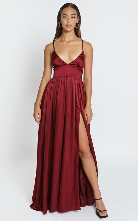 I Want The World To Know Dress in Wine