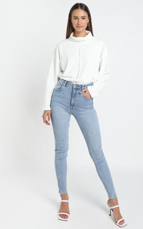 Sara Sweater in White