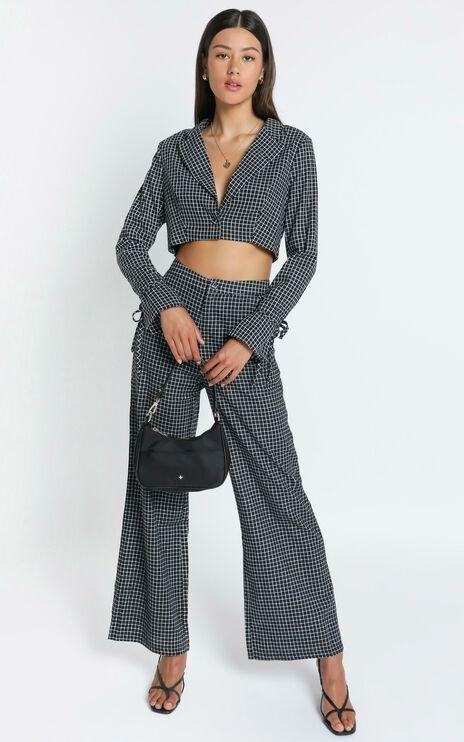 Maude Blazer in Black Check