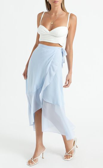 Add To The Mix Skirt in Blue