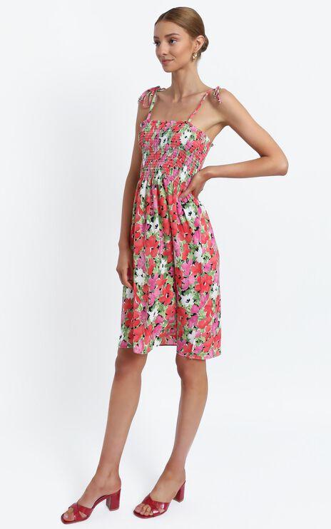 Odeelia Dress in Pink Floral