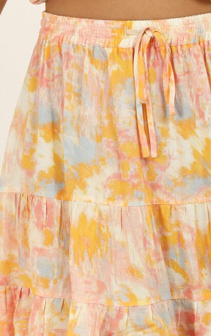 Spin Around skirt in pink tie dye - 16 (XXL), Pink, hi-res image number null