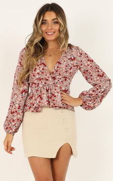Made To Measure Top In Blush Floral
