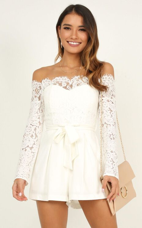Since Youve Been Gone Playsuit In White