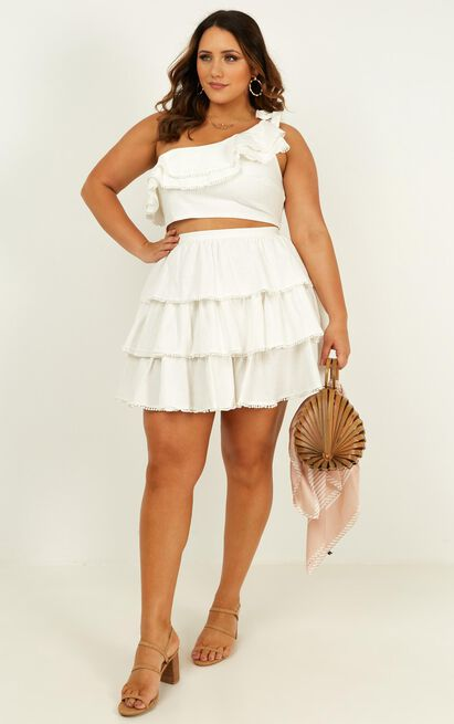 Rooftop spritz two piece set in white - 20 (XXXXL), White, hi-res image number null
