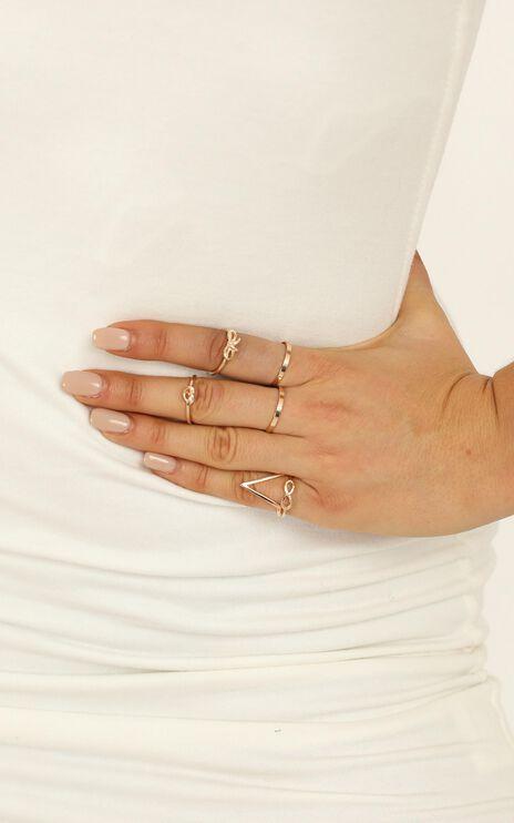 Longest Goodbye Ring Set in Gold