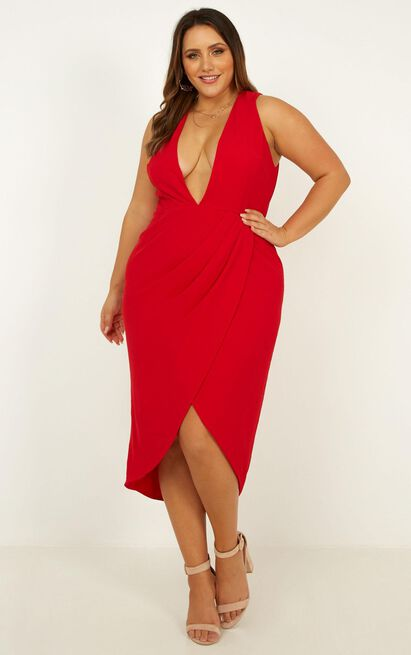 Camera Ready Dress in red - 20 (XXXXL), Red, hi-res image number null