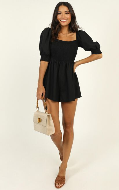 Take Action Playsuit in black - 20 (XXXXL), Black, hi-res image number null
