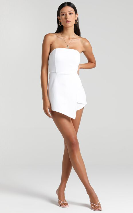 Caught My Eyes Playsuit in White
