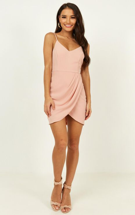 Good To Be Alone Dress In Blush