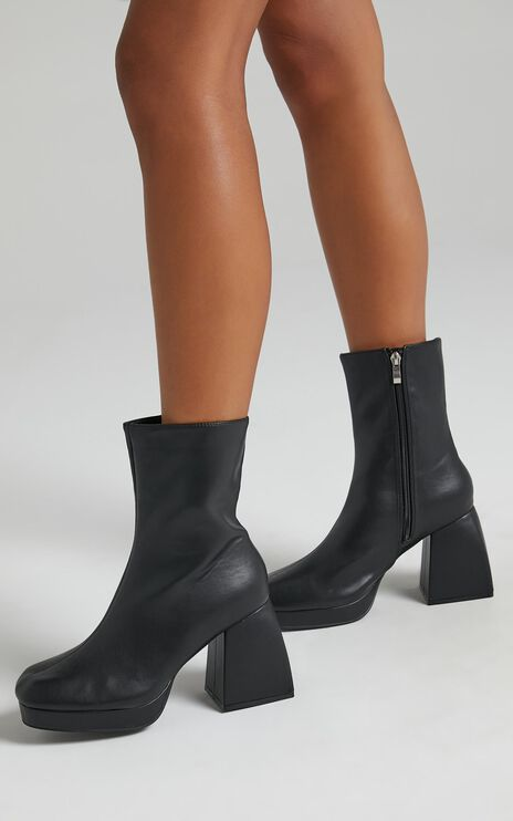 Public Desire - Imagine Boots in Black